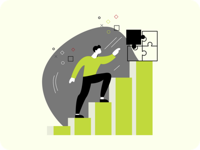 Business success and growth chart design illustration figmadesign branding graphic design ui character vector illustration