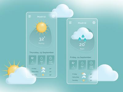 WEATHER APP UI DESIGN | FIGMA DESIGN vector illustration illustration ui figmadesign akanksha vectorlo appui uiux weatherapp appdesign