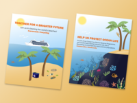 'Join Us' Campaign Posters 01 challenge branding reef coral environment campaign illustrator design vector palms ocean illustrator adobe beach illustration
