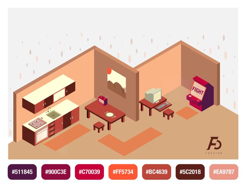 Perspective Home perspective skills vector inspiration digital drawing design i̇llustration