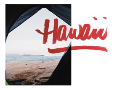 Hawaii handwriting editorial photography
