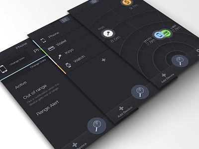 Radar App radar ios dark app wip