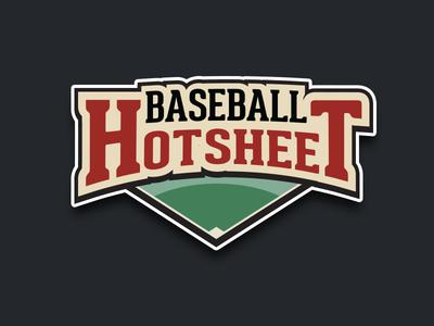 Baseball News Site Logo baseball logo diamond green hotsheet