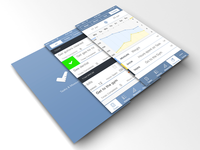 Task Manager ios iphone app tasks list graph light