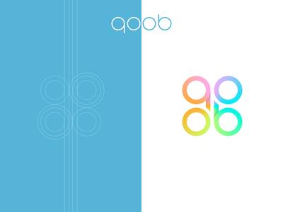 qoob logo circle cube colors