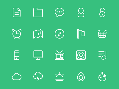 Icons  icons vector line free