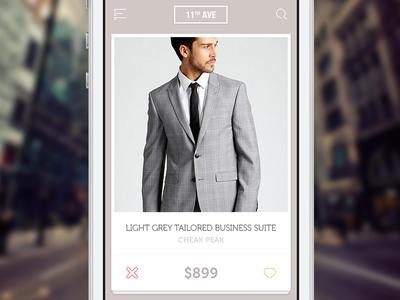 Shopping App shopping fashion app ios grey tinder