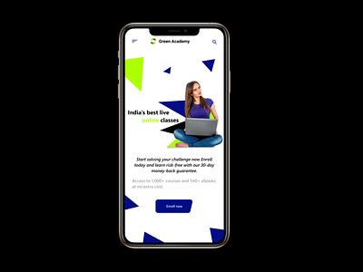 Online Education website ux ui design app