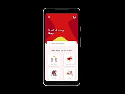 Money sending app ui design app