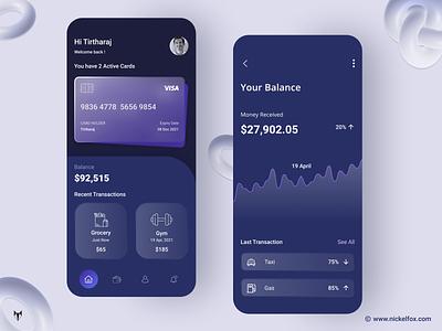 Mobile Bank App Design online banking digital card bank card mobile app design design ui ux mobile online startup investing investment trading stocks fintech finance trading app investment app financeapp graphs