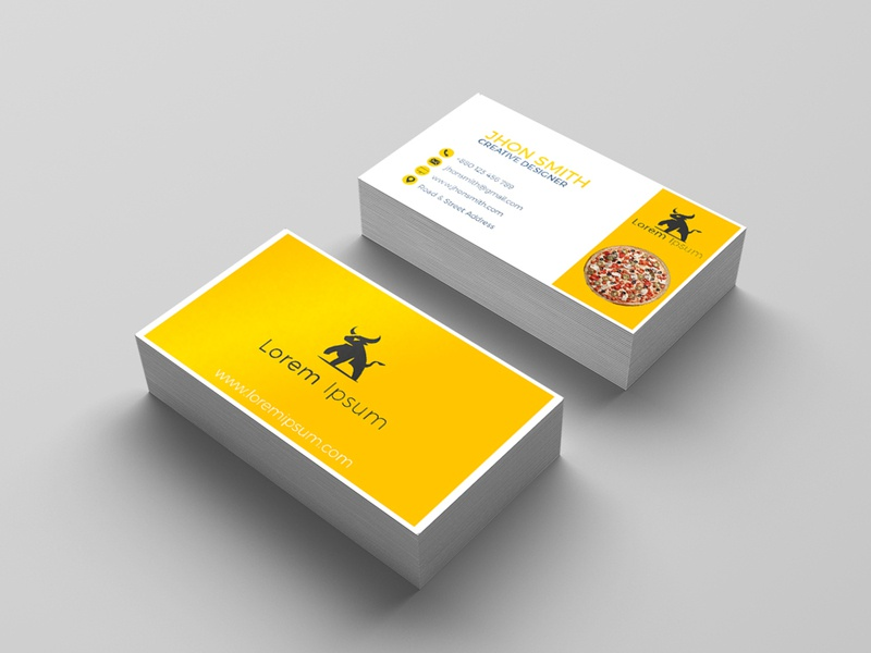 Business Card brand logo typography cover branding leaflet flyer graphic design logo company branding visiting card business card