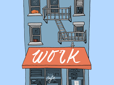 Opening Page Preview cafe house portfolio illustration website