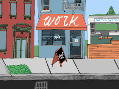 Opening Page Concept street portfolio website illustration