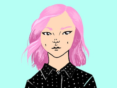 Doodle Day 2 girl illustration
