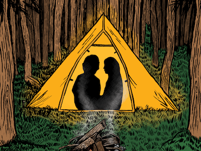 Take Me to the Woods wilderness outdoors camping woods illustration