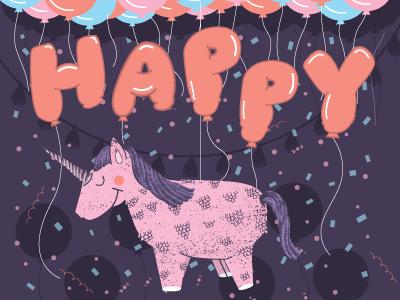 HBD ANORAK! party pinata birthday illustration anorak