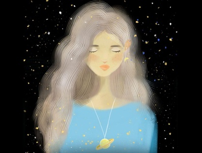 Fairytale Girl woman girl fairytale design stylish portrait color drawing illustration art