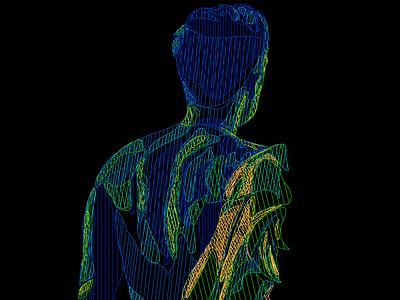 Man in neon colors minimalistic art custom design buy illustration marketing man in neon colours man in neon colours line art printable art gifts club design poster art t-shirt illustration neon colors colorful design branding stylish illustration
