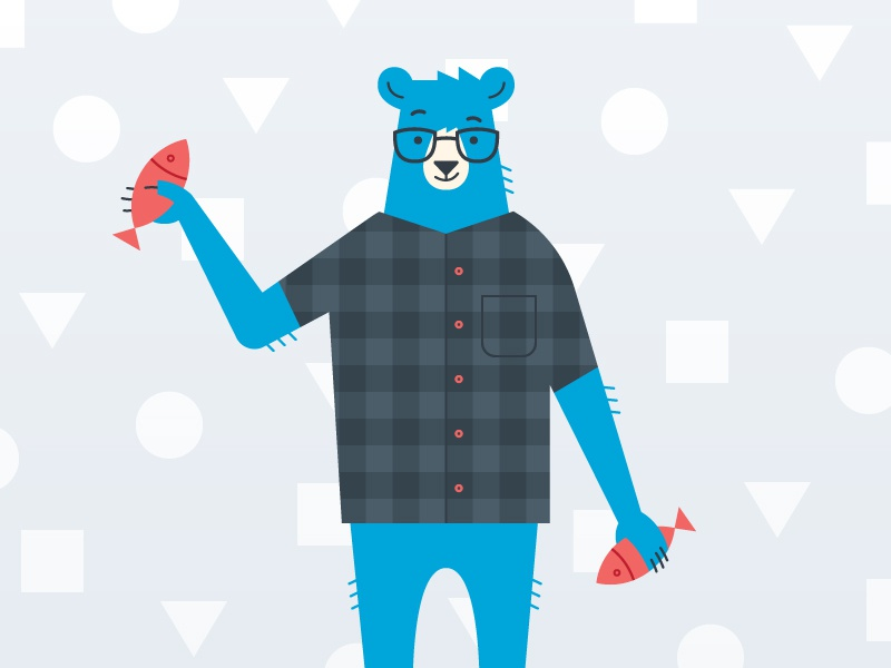 Meet Lawrence mascot development animal plaid icon city cool bear character illustration
