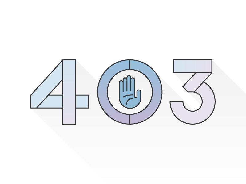 403 permission interface icon hand gradient 403 line sketch illustration