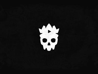 Skull King logo design brand minimal illustration flat illustrator mascot logo icon vector logo branding