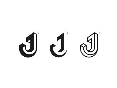 J - Logomark icon minimal flat lettermark brand vector logo illustrator typography design branding