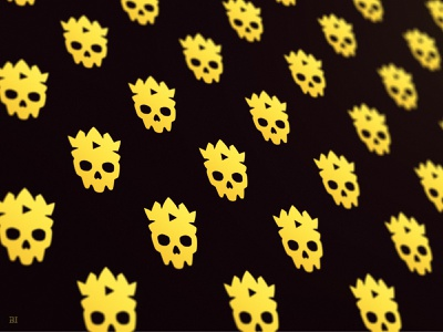 Skull King - Brand Pattern mascot minimal brand flat icon mascot logo illustration vector logo branding