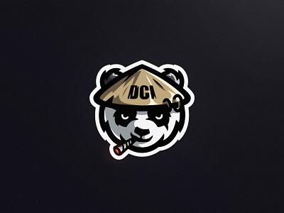 Stoned Panda vector brand logo esportlogo sports logo mascot mascot logo illustration illustrator branding