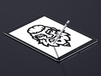 Viking - WIP design brand esportlogo sports logo mascot mascot logo illustration illustrator logo branding