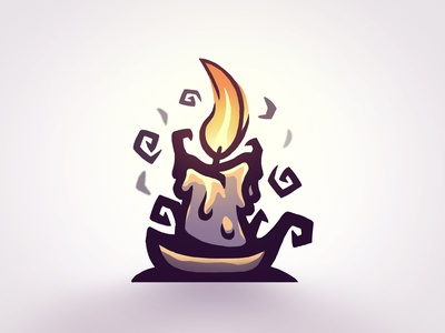 Mysterious Candle - WIP vector icon brand esportlogo sports logo mascot mascot logo illustration logo branding