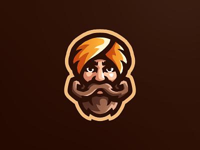 Turban Man icon brand esportlogo mascot sports logo mascot logo illustration illustrator logo branding