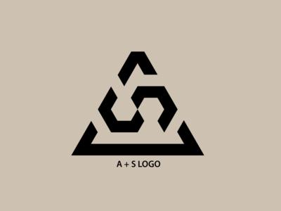 A + S Logo branding flat icon vector illustration logo minimal illustrator design adobe illustrator