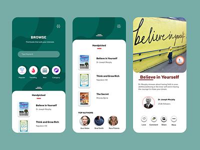 e-Book app brand mobile web lettering graphic design flat website typography icon branding app design minimal ux ui