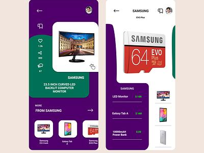 Online tech shop Commerce App clean icon graphic design flat mobile logo vector typography illustration branding app ux ui minimal design