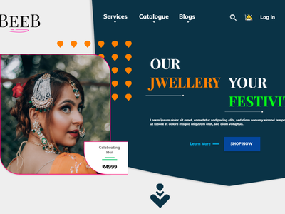 Jewellery shop landing page character mobile clean icon graphic design web website app branding typography illustration ux ui minimal design