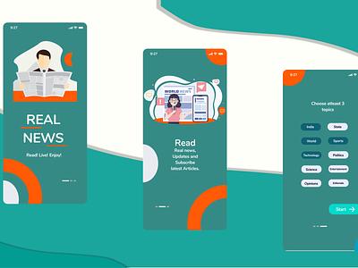News paper mobile app clean web graphic design mobile flat icon typography vector illustrator branding app ux ui minimal design