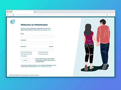 #CreateWithAdobeXD Sign up form illustrator typography icon web website illustration app ux ui design