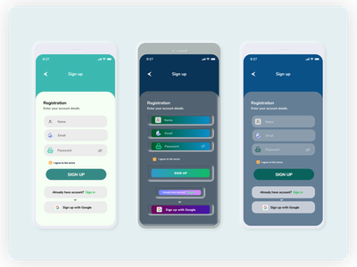 Sign up page using neumorphism mobile ux design 2020 app neumorphic design ui graphic design design adobexd