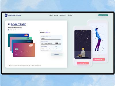 Credit/Debit Card Product Checkout Webpage illustration neumorphism mobile app modern ui design indian designer design 2020 clean graphic design ux ui minimal design adobexd