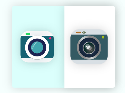 Camera app icon mobile minimal adobe xd dailyui branding android app ios icon affinitydesigner design graphic design vector ui logo illustration icon camera app apple