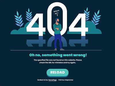 404 Page - Web page error. clean dailyui ux affinity designer figma vector website web design web graphic design ui minimal illustration design error 404 error colors 404 page 404