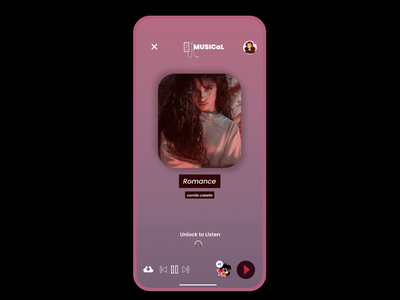 Share music on social media. gradient design clean ui music app indian designer design 2020 transitions animation dailyui music player mobile app graphic design ux ui share button design