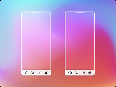 House hunting app Design! mobile app design product design rental app glassmorphism motion design after effects animation mobile clean app minimal graphic design ux ui design