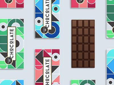 Stuart's Chocolate Packaging geometric branding colorblock packagedesign packaging chocolate