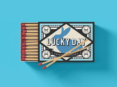 Lucky Day Matchbox Packaging packaging design packagedesign package design packaging matchbook matchbox design typogaphy