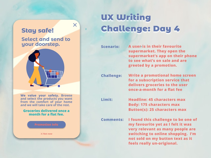 UX Writing Challenge: Day 4