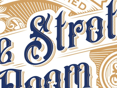Close up of The Strother Room Logo