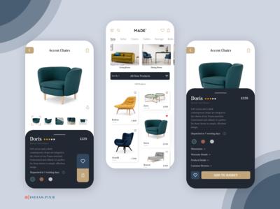 MADE Furniture Mobile UI xd uitrends branding flatdesign userinterface user experience uiuxdesigner uiuxdesign mobile ui made.com redesigned furniture app