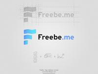 Freebe logo concept redesign logotype gradiant startup application app design simple blue flat logo design logo freebe