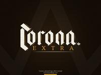 Corona beer logo refont vintage logo old medieval neo gothic blackletter gothic vintage brown refont logo beer corona